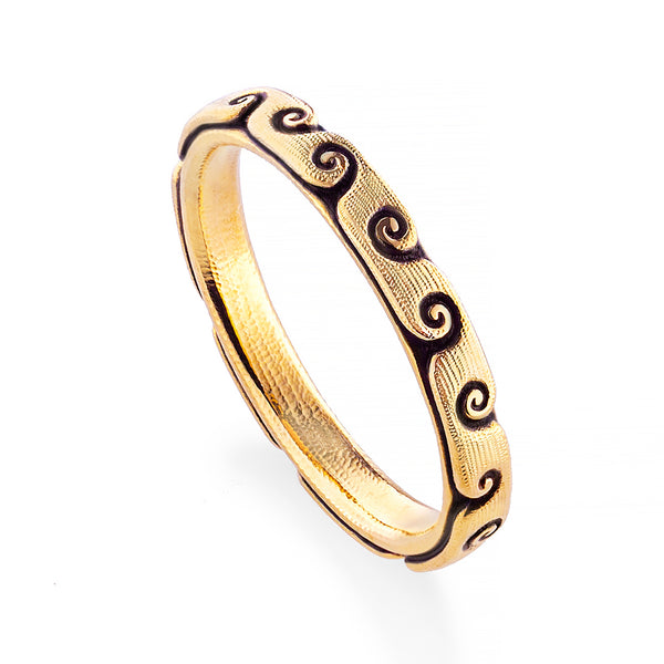 """Swirling Water"" Band in 18K Gold"