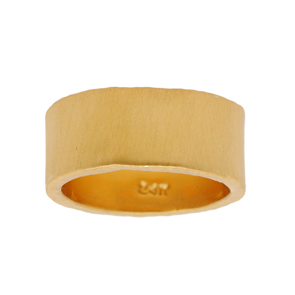 24K Yellow Gold Band with Matte Finish