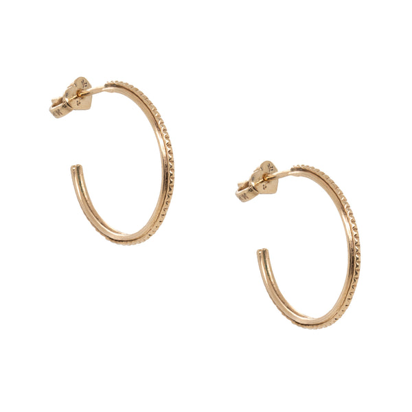 Handmade Gold Open Hoops (18mm)