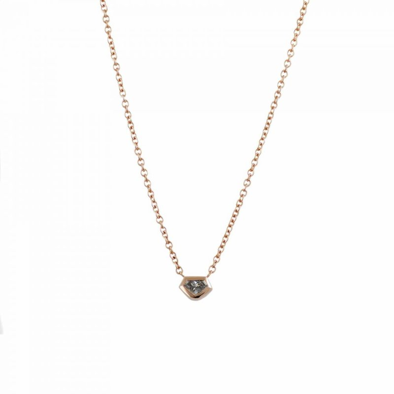 18K Rose Gold Kite Shaped Diamond (0.17ct) Necklace