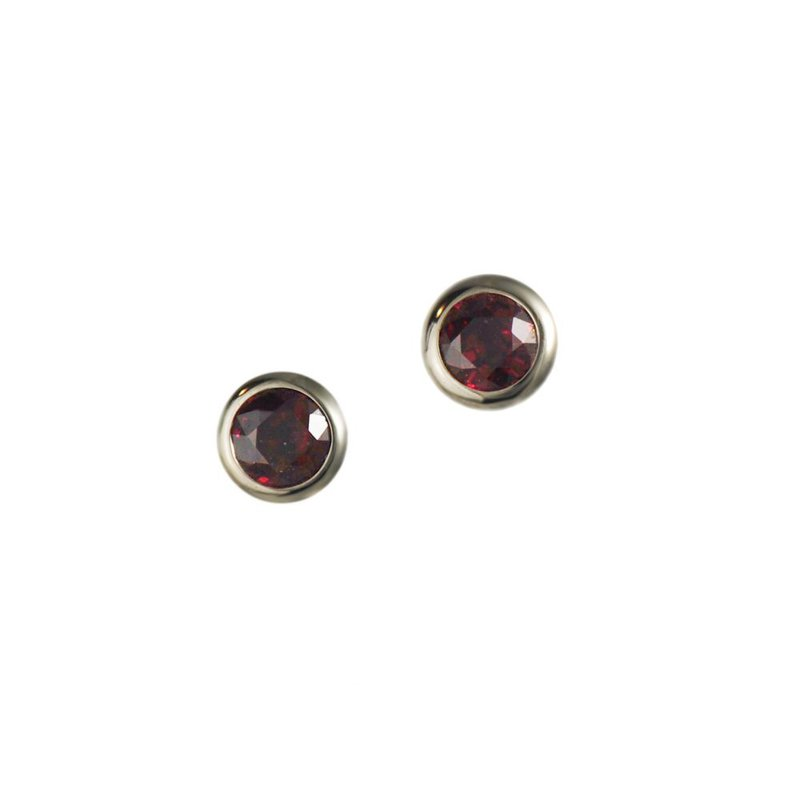 Ruby 0.50ctw White Gold Studs