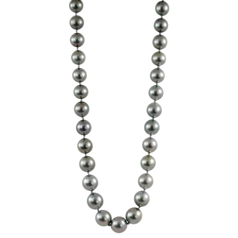 Deep Gray Tahitian Pearl Strand Necklace