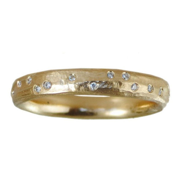 18K Gold and 28 Diamonds Band