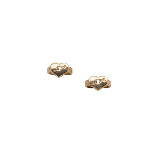 Fairy Cross Gold Studs (4.5mm)
