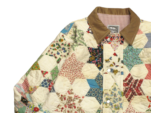 six point star quilt jacket