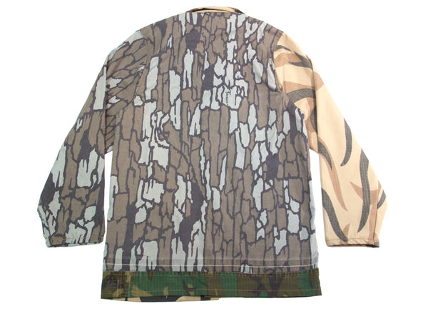crazy pattern camo chore jacket