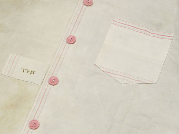monogrammed linen tea towel shirt