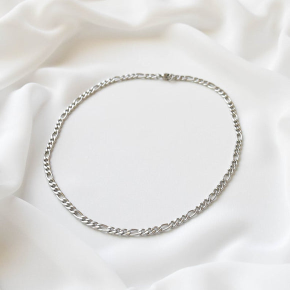 Figaro Chain Choker Necklace 925 Silver Jewelry for Women
