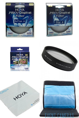 Hoya Pro 1 62mm Special Effects Kit - Includes: Soft A, Star 4 & Close Up No 3