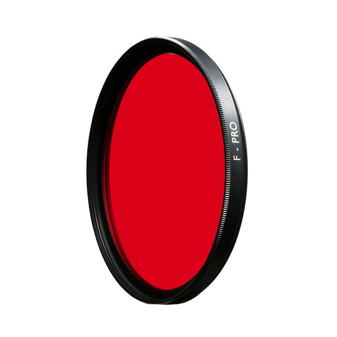 B+W 49mm #25 Light Red SC (090) Filter - Schott Glass - MPN: 65-071887