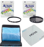 Kenko 82mm Action Series Starter Kit - Includes 82mm UV & CPL - Filter Wallet