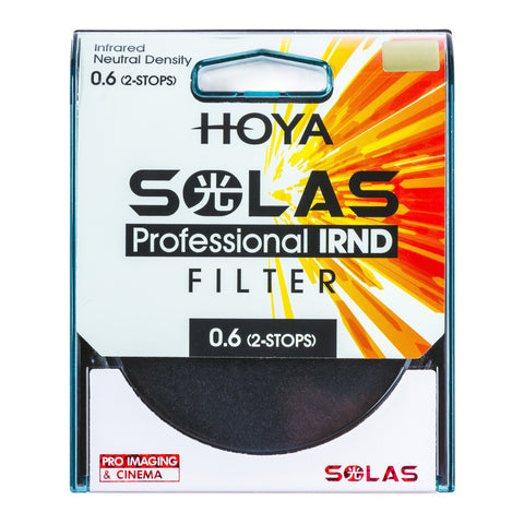 HOYA SOLAS ND-4 (0.6) 2 Stop IRND Neutral Density Filter