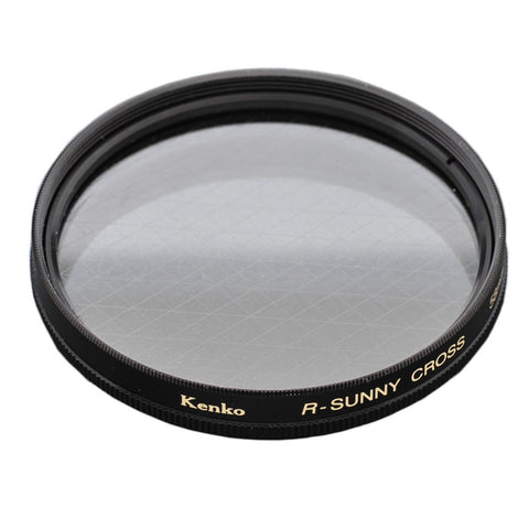 Kenko 58mm R-Sunny 8 Point Cross Screen Camera Lens Filter - Made In Japan