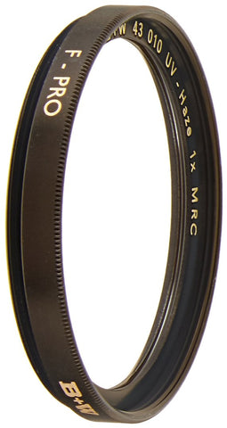 B+W 43mm UV Haze MRC 010M Lens Filter - Schott Glass - Brass Ring - 66-023185