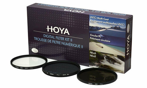Hoya 37mm Digital Filter Kit II - Slim UV, Cir-PL, ND8 Filters & Case HK-DG37-II
