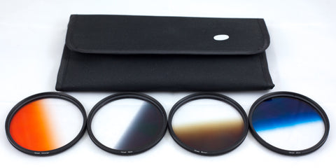 NGO 72mm - Graduated Color 4 Filter Kit w/Filter Pouch & Cleaning Kit   FK004-72