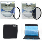 Hoya 40.5mm Fusion One Starter Kit - Includes Protection, CPL, Wallet-Lens Cloth