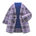 Checkered Chesterfield Coat