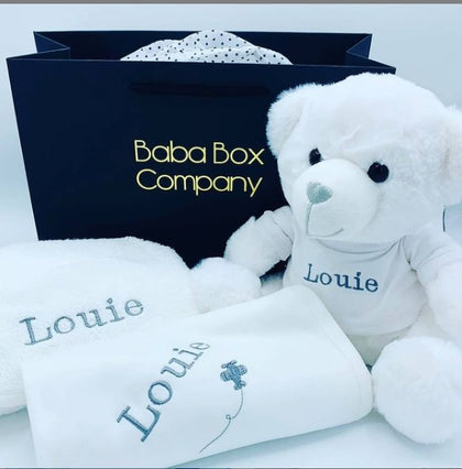 Luxury Personalised Baby Cosy Set