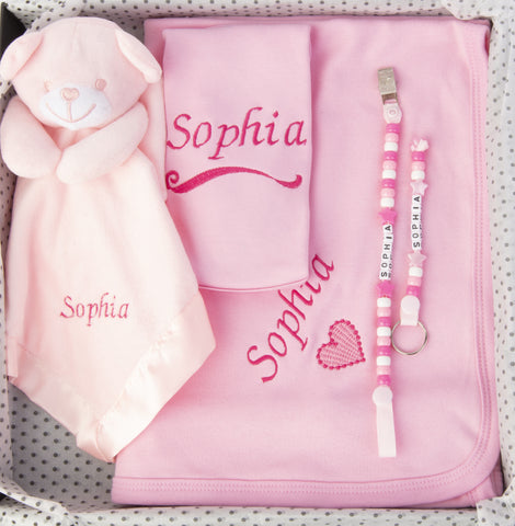 LUXURY PERSONALISED BABY GIFT SET