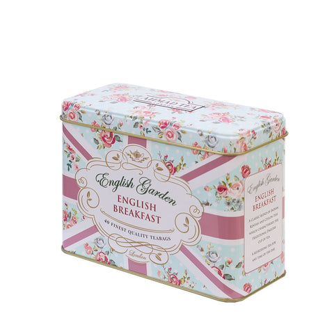 English Garden Tea Caddy (English Breakfast 40 teabags)