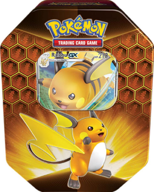 1x Hidden Fates Raichu Tin - Pokemon (LIVE BREAK)