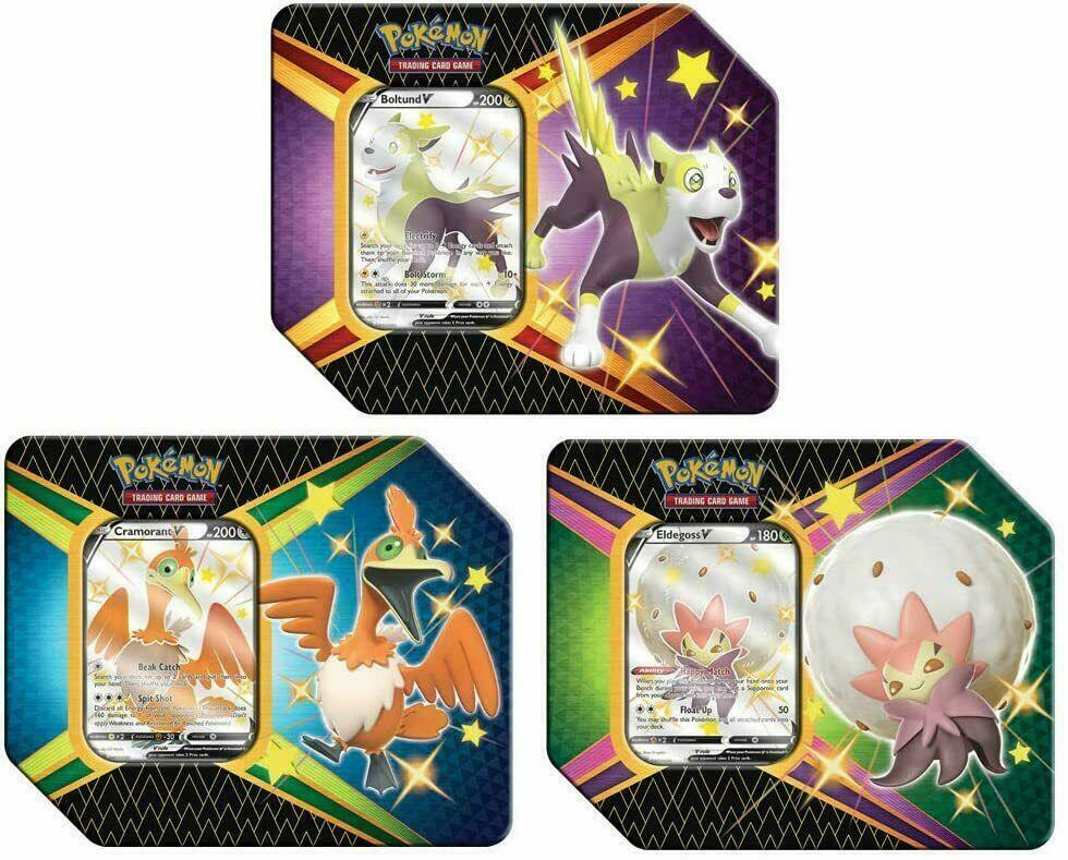Shining Fates Tin 3 Set (1 of each) - Pokemon (LIVE BREAK)