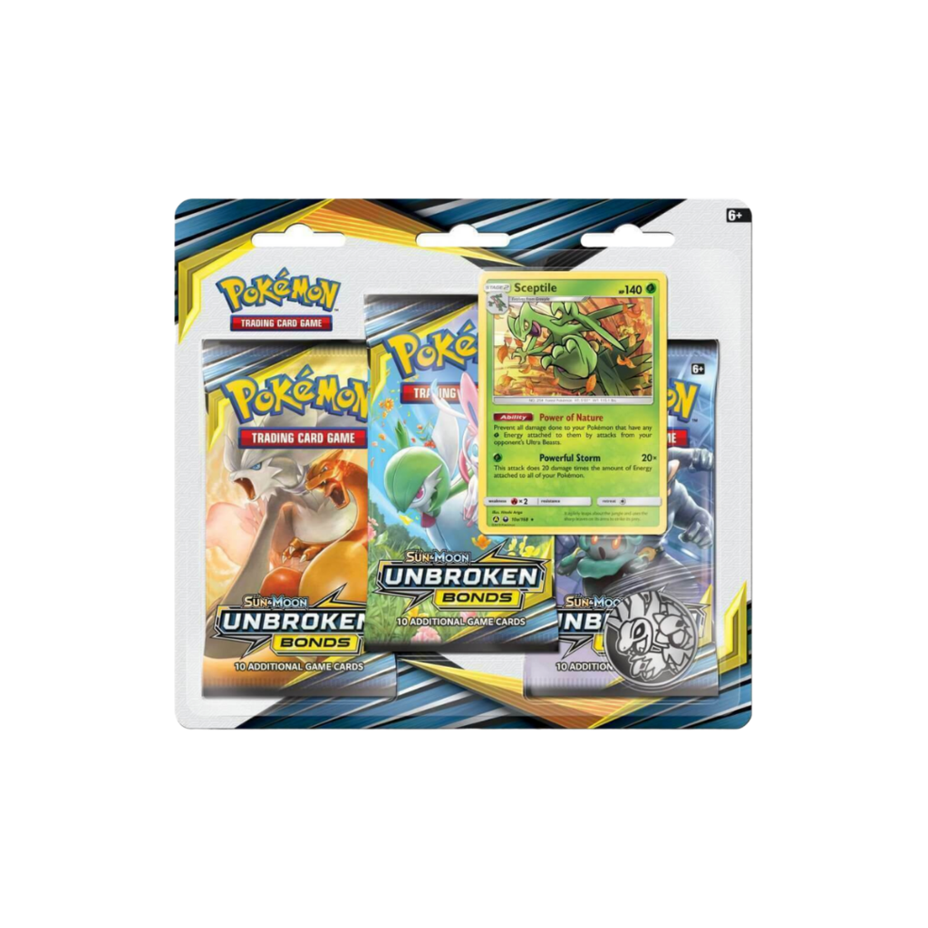 1x Unbroken Bonds 3-Pack Blister - Pokemon (LIVE BREAK)
