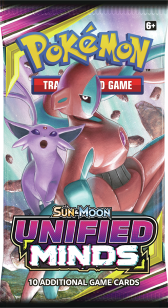 1x Unified Minds - Pokemon Booster Pack (LIVE BREAK)