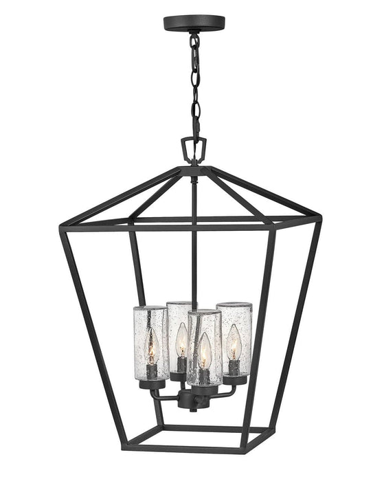 Hinkley - 2567MB-LL - Four Light Outdoor Lantern - Alford Place - Museum Black