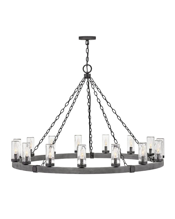 Hinkley - 29209DZ-LL - 15 Light Outdoor Lantern - Sawyer - Aged Zinc