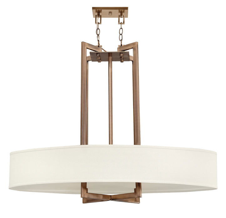 Hinkley - 3208BR - Four Light Pendant - Hampton - Brushed Bronze