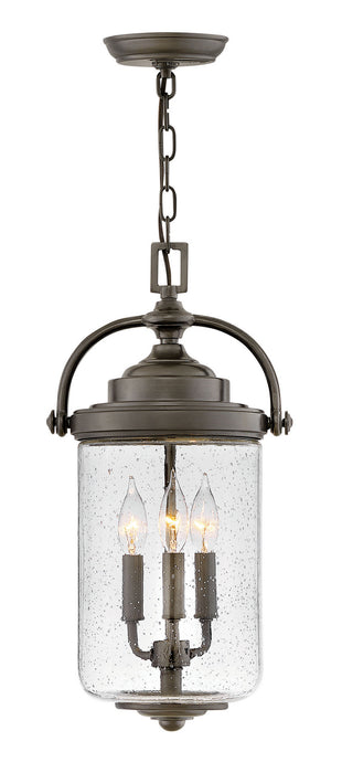 Hinkley - 2752OZ - Three Light Outdoor Lantern - Willoughby - Oil Rubbed Bronze