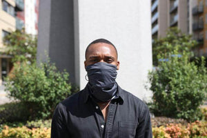 Man with anti pollution scarf | CYCL
