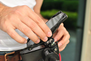 Man mount phone holder to bike