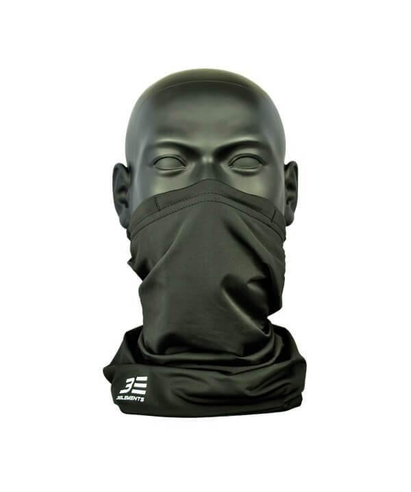 Three Elements Air Filtering Scarf Black Front
