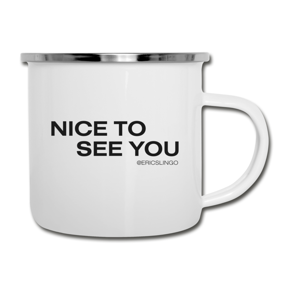 Nice to See You Coffee Mug - white
