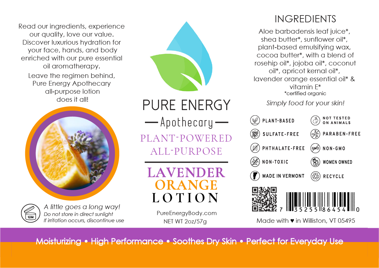 Natural All Purpose Lotion 2 oz (Lavender Orange)