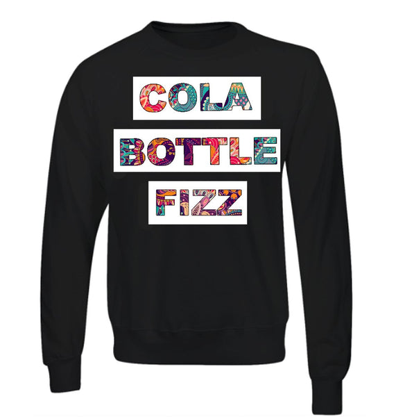 SALE - Cola Bottle Fizz - Black Sweatshirt