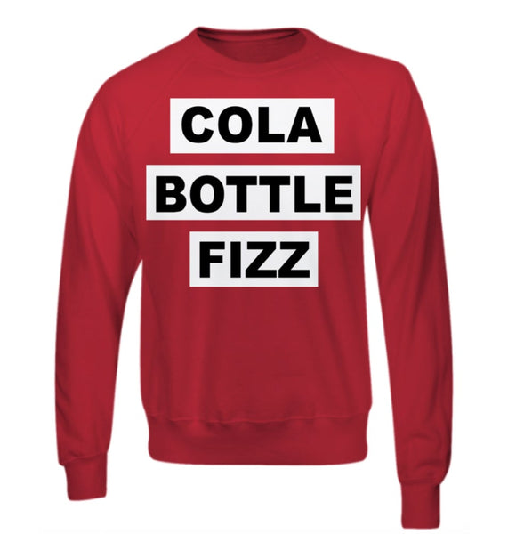 SALE - Cola Bottle Fizz - Red Sweatshirt