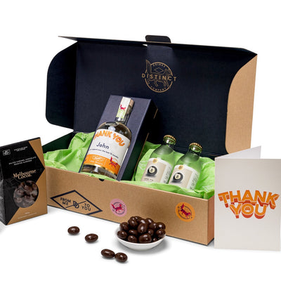 Thank You Pack | Personalised Gin, Vodka & Gift Boxes | Distinct Drinks | Shop Online