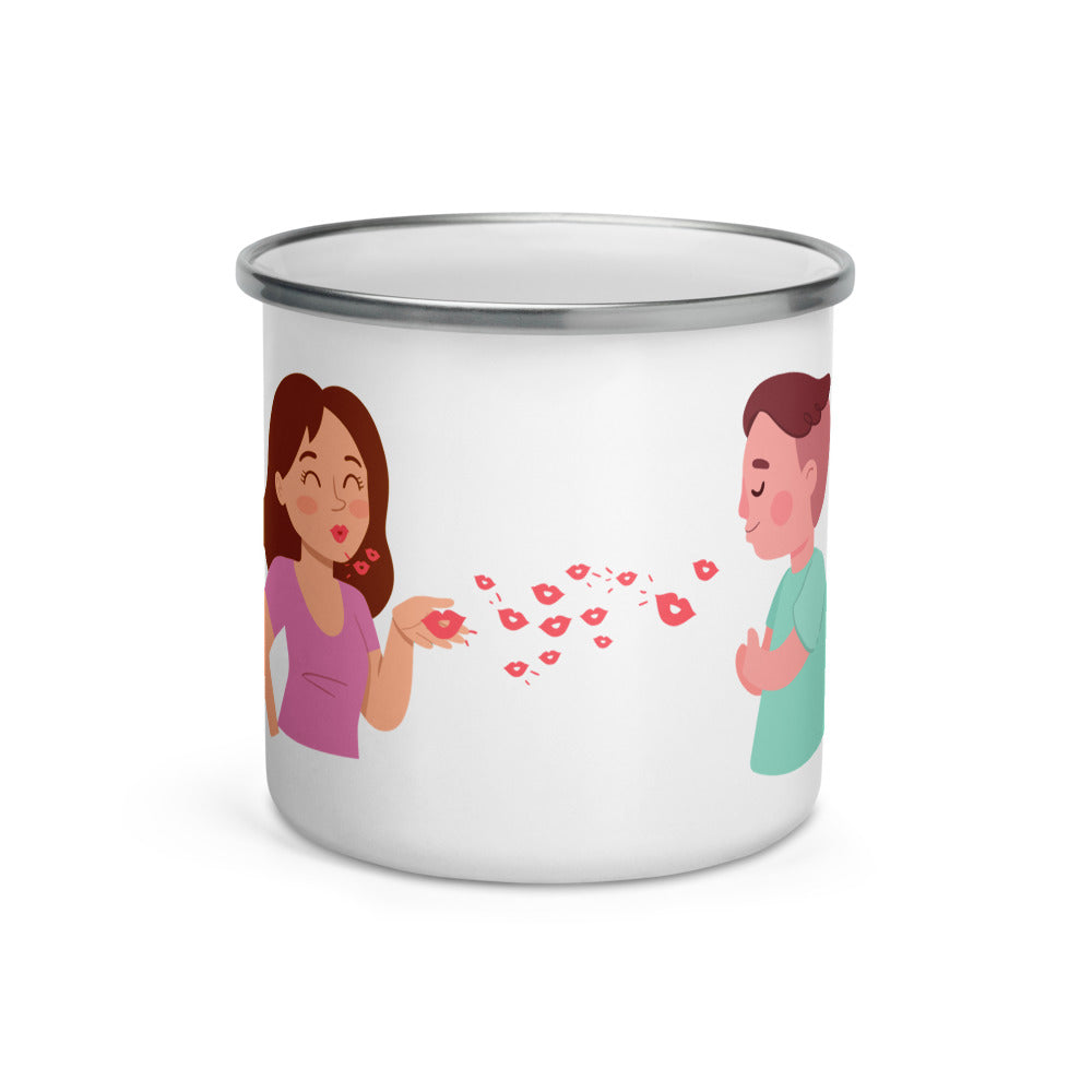 Kisses - Enamel Mug
