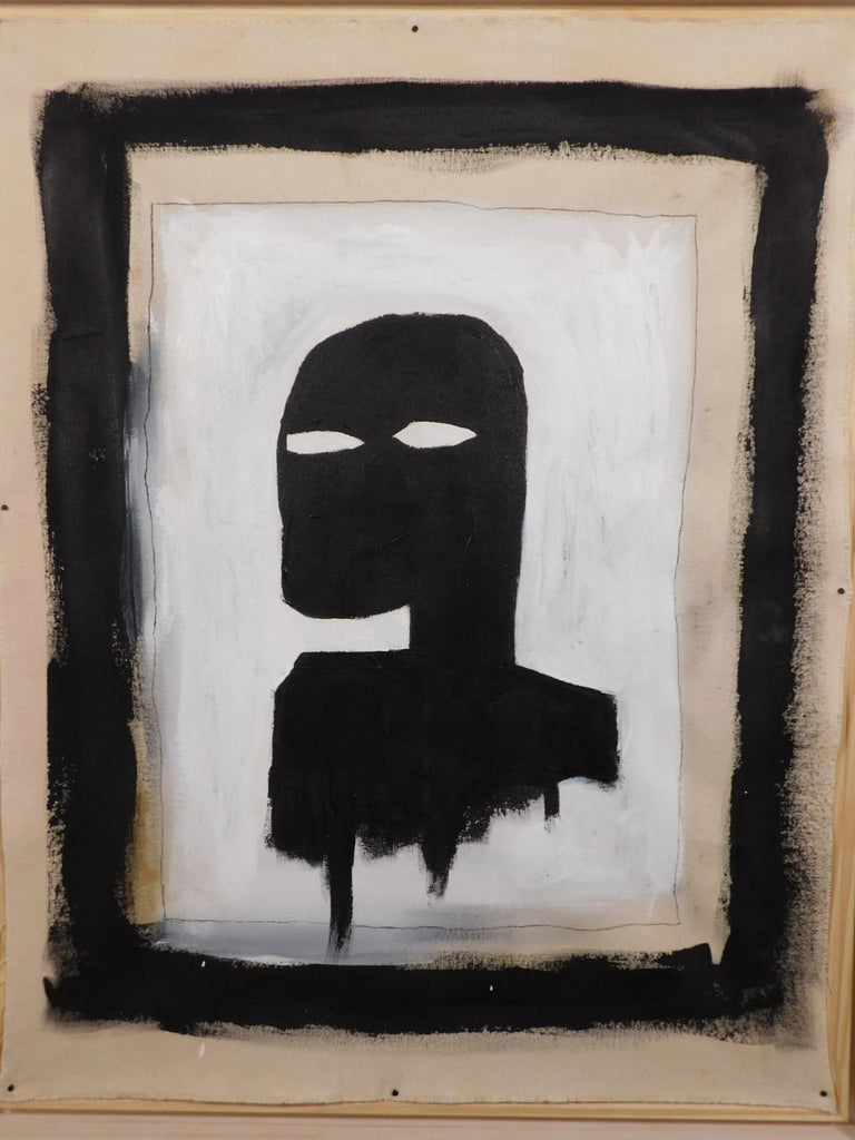 Manner of Jean-Michel Basquiat:  Black Silhouette