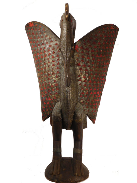Hornbill With Brass & Cloth, Senufo People, Ivory Coast