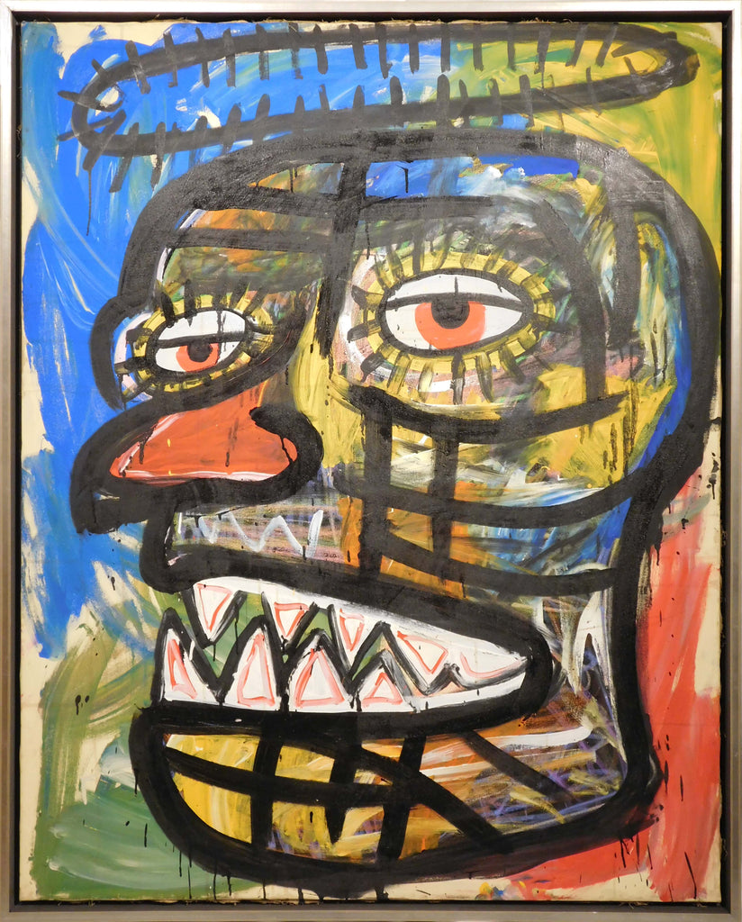 Jean-Michel Basquiat, Attributed: Face w/ Halo of Thorns