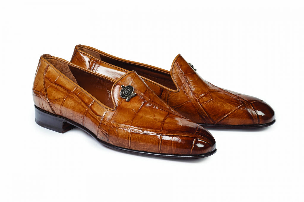 Mauri - 1017 Ghiberti Hand-Painted Brandy Body Alligator - Dudes Boutique