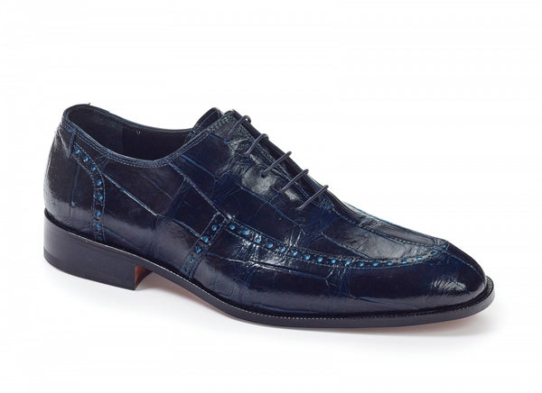 Mauri - 4869 Sammartino Alligator Oxfords Wonder Blue