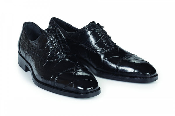 Mauri - 4818 Black Alligator Body Dress Shoes