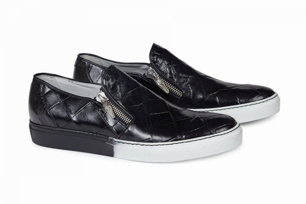 Mauri - 8508 Black Alligator Body Sneakers