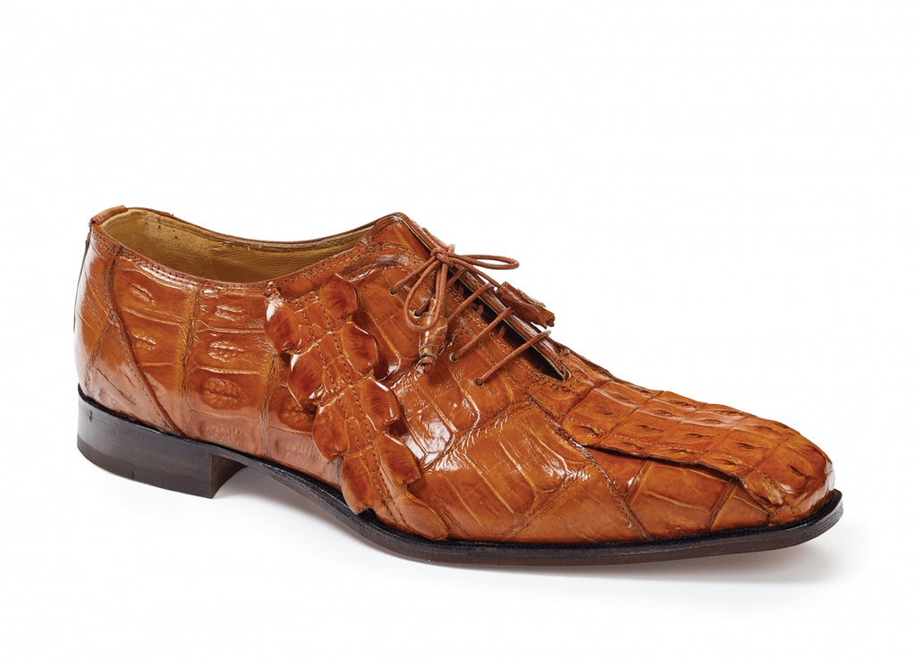 Mauri - 4844 Pelligrini Crocodile & Hornback Oxfords - Dudes Boutique